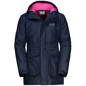 Jack Wolfskin Ice Cave Veste 3In1 Fille, midnight blue